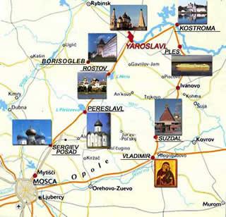 Russia Oggi Cartina.Cartina Viaggi Anello D Oro Di Russia